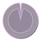 Polarizer Analog Clock: Purple