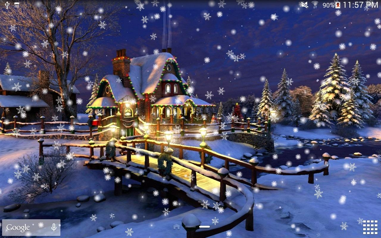 snow night live wallpaper hd android apps auf google play. Black Bedroom Furniture Sets. Home Design Ideas