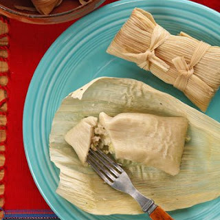 Chicken and Green Salsa Tamales.