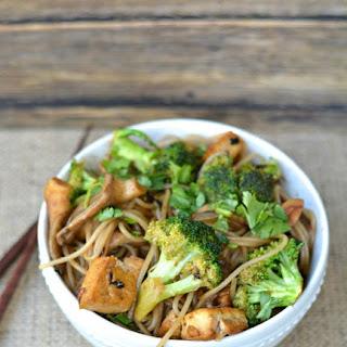 Buckwheat vermicilli Stirfry with Tofu