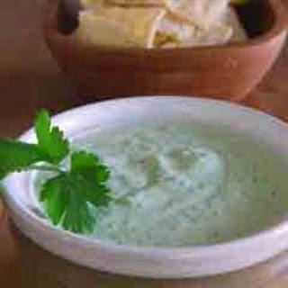 Cilantro Serrano Cream Sauce.