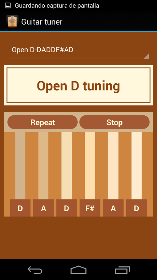 Guitar tuner- screenshot