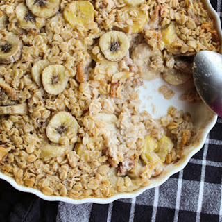Maple-Banana Baked Oatmeal.