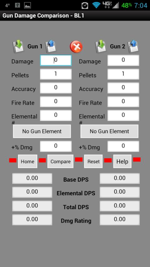 Borderlands DPS Calculator - screenshot