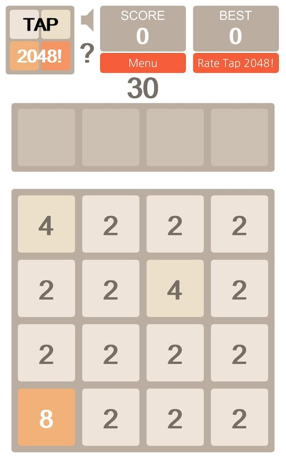 Tap 2048!- screenshot