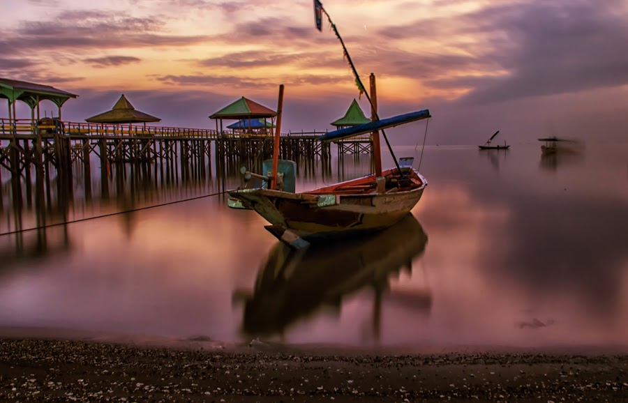 Sparkling boat by Agus Sudharnoko - Transportation Boats