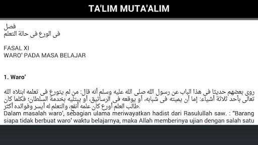 Terjemah Kitab Ta'lim Mutaalim