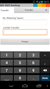 BNI SMS Banking - screenshot thumbnail