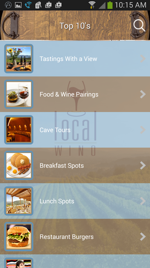 Local Wino Napa Valley- screenshot