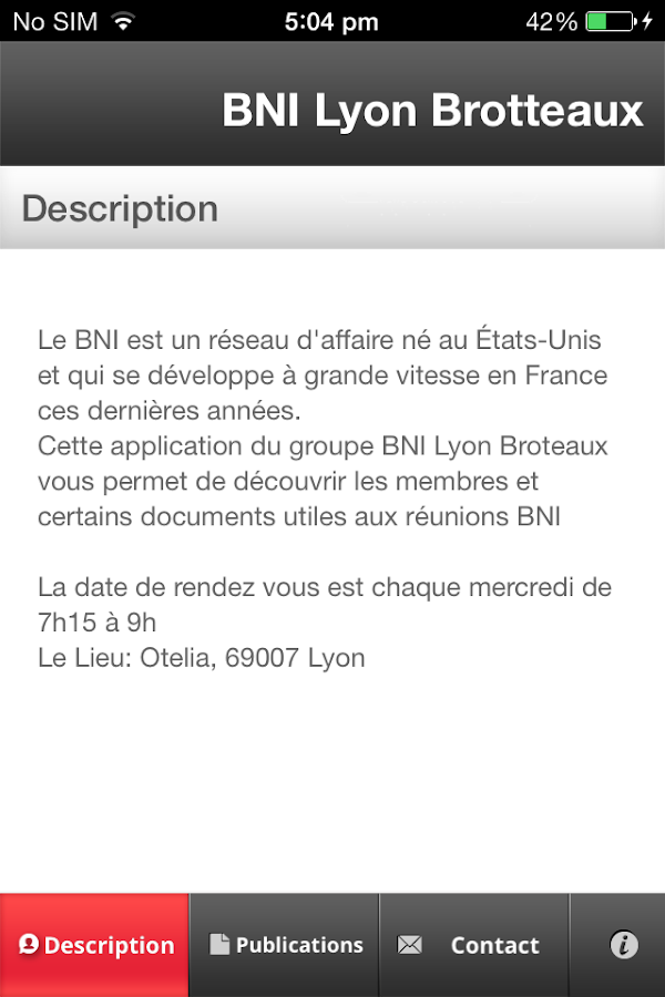 BNI Lyon Brotteaux - screenshot