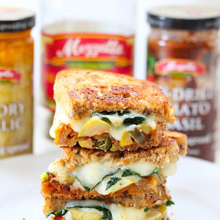 Sun Dried Tomato And Kale Grilled Cheese Sandwich.