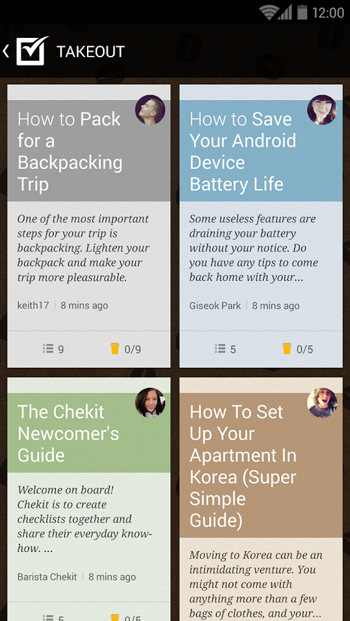 CHEKIT - Know-how Checklist - screenshot