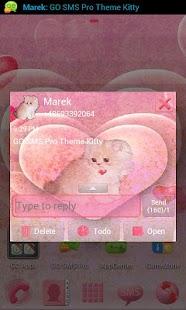 GO SMS Pro Theme Kitty- screenshot thumbnail