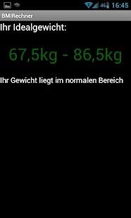 BMI Rechner- screenshot thumbnail