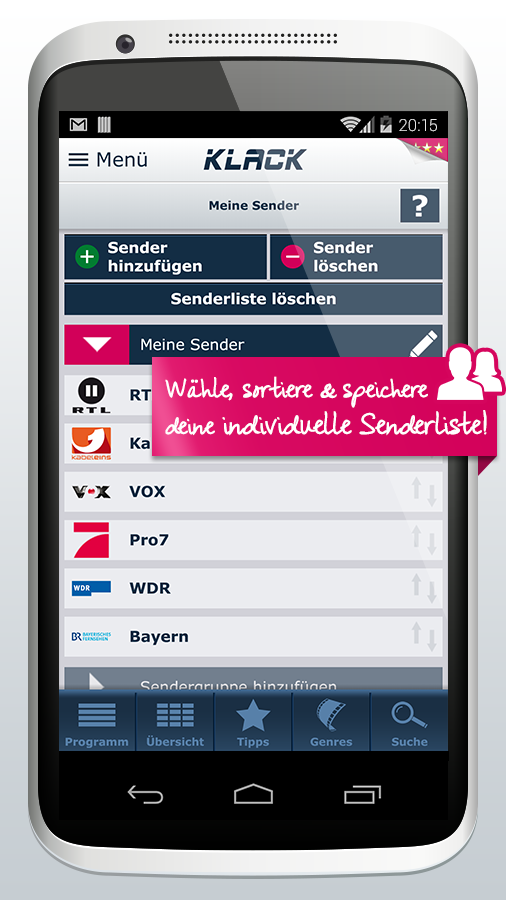 KLACK TV-Programm (Phone) - screenshot