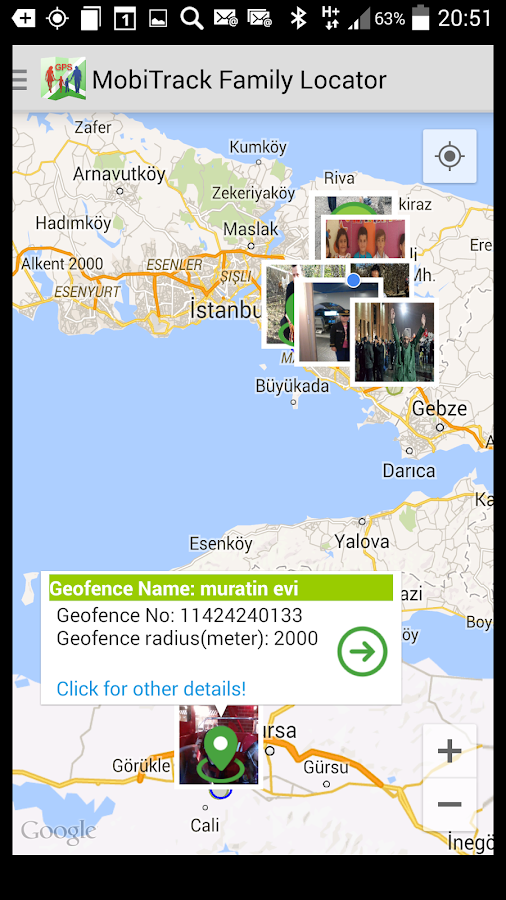 MobiTrack Family GPS - screenshot