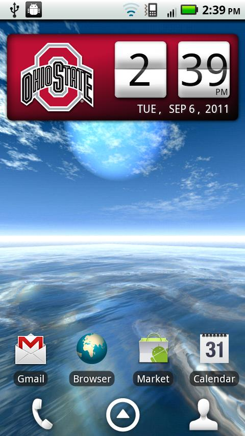 Ohio State Buckeyes Clock - screenshot