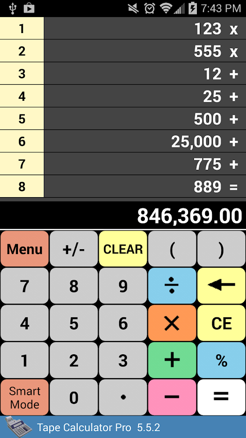 Tape Calculator Pro- screenshot