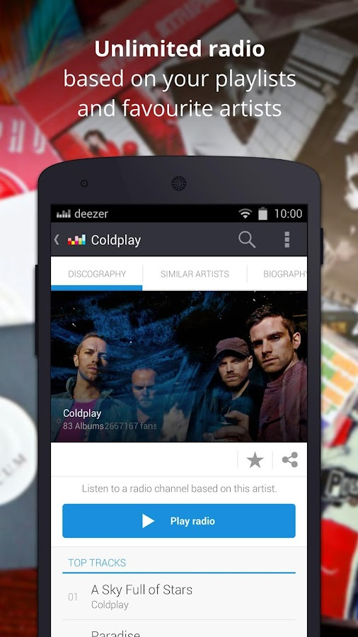 Deezer Music - screenshot