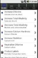 Screenshot of Pool Chemical Dosing