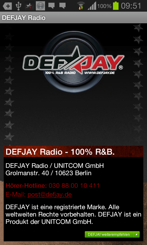 DEFJAY Radio - 100% R&B - screenshot