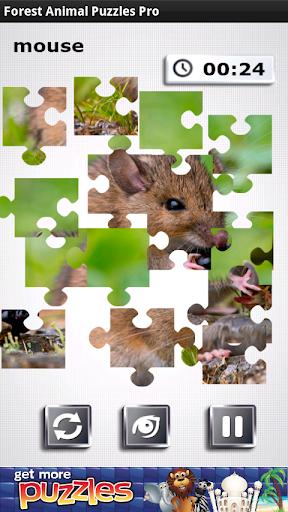 無料の森の動物パズル