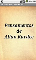 Screenshot of Pensamentos de Allan Kardec