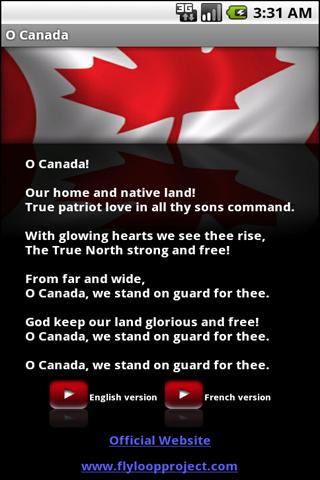 O Canada - screenshot