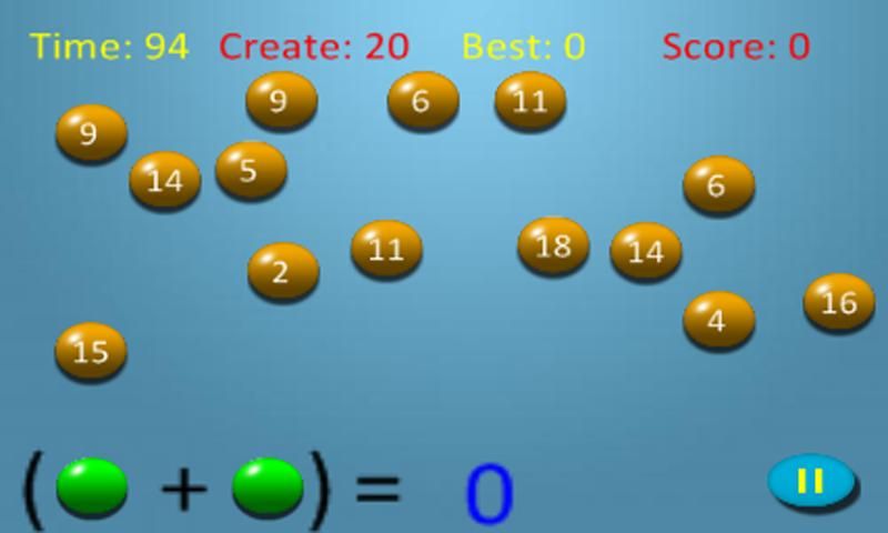 Bubble Math Lite - screenshot