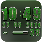 Clock Widget Green Elephant