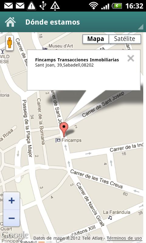 Fincamps inmobiliaria - screenshot