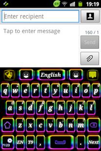 霓虹色鍵盤
