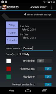 My Pain Diary Screenshot