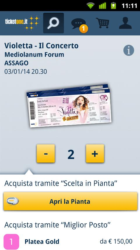 TicketOne.it - screenshot