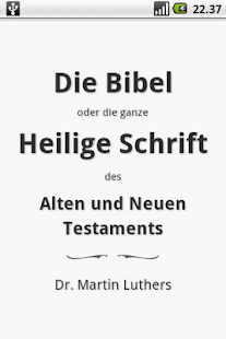 Die Bibel Luther Holy Bible