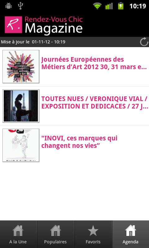 Rendez-Vous Chic magazine - screenshot
