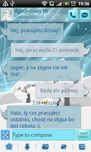 GO SMS Pro Winter Theme