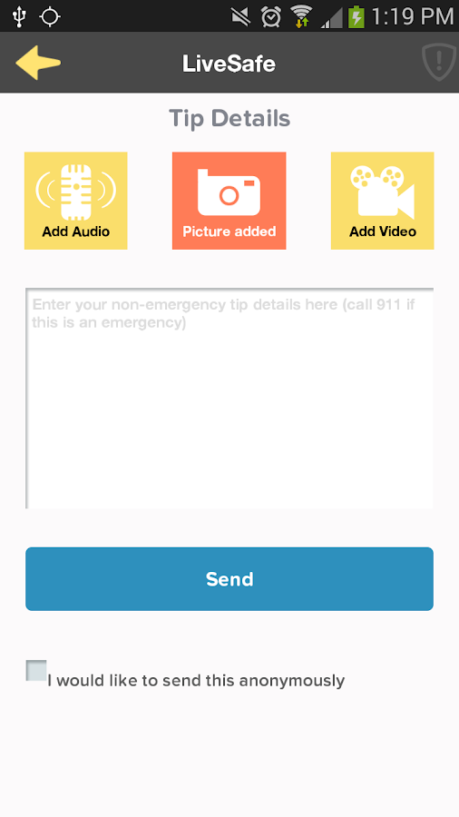 LiveSafe - screenshot