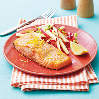 Grilled Salmon with Apple-Chipotle Slaw