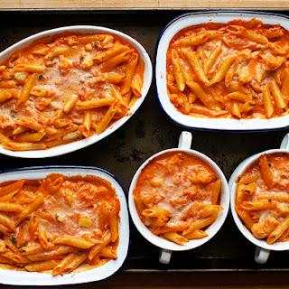 Pasta with Cauliflower in a Spicy Pink Sauce.