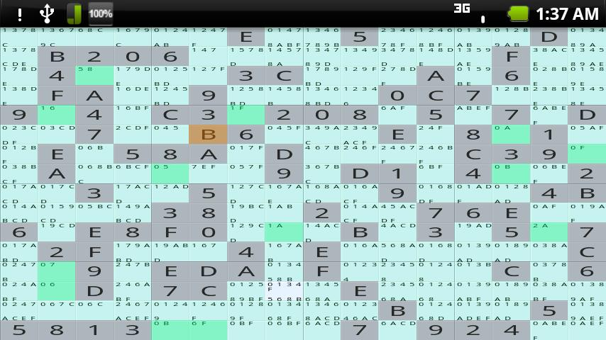 Hex Sudoku - screenshot