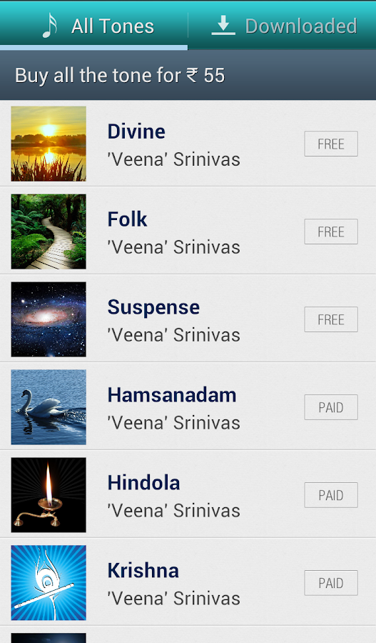 Indian Classical Ringtones - screenshot