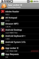 Screenshot of App Locker II Pro