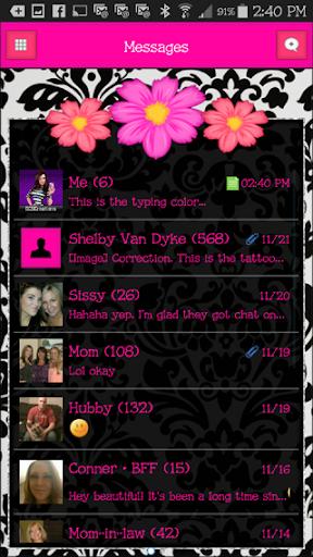 GO SMS THEME - SCS398