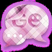 GO SMS - Purple Plaid