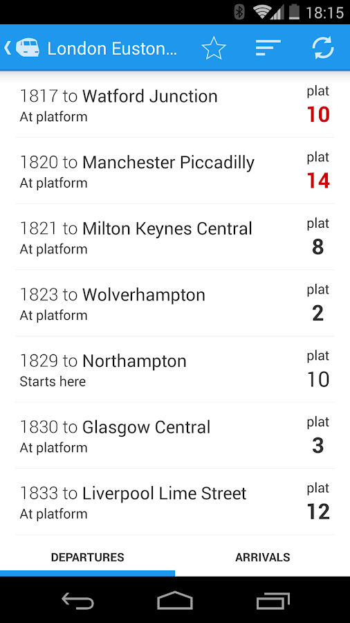 Realtime Trains- screenshot