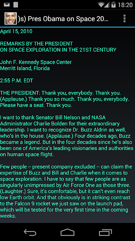 Screenshots for s Pres Obama on Space 2010
