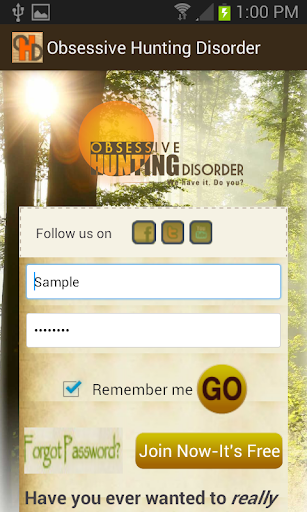 Obsessive Hunting Disorder App