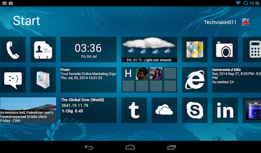 Home8 like Windows8 launcher- screenshot thumbnail