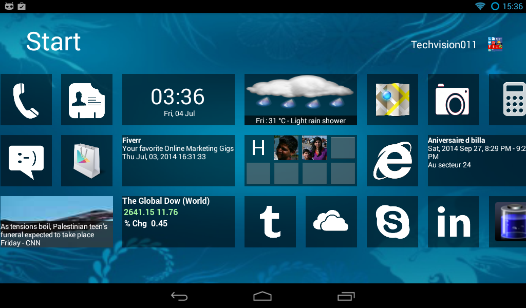 Home8 like Windows8 launcher - screenshot